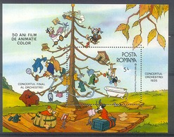 Myu099 WALT DISNEY 50 JR ANIMATIEFILM IN KLEUR CONCERT ORCHESTRA 1935 ROMANA 1986 PF/MNH # - Disney