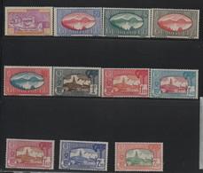 GUADELOUPE N° 147/157 * (charnière) - Guadeloupe (1884-1947)