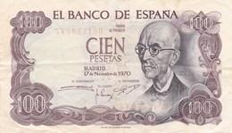 Espagne - Billet De 100 Pesetas - Manuel De Falla - 17 Novembre 1970 - [ 3] 1936-1975 : Régimen De Franco