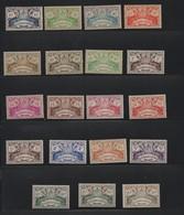 GUADELOUPE N° 178/196 * (charnière) - Guadeloupe (1884-1947)