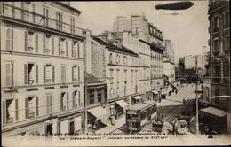 Cp Paris XIV., Avenue De Chatillon, Dirigeable, Zeppelin Clement Bayard, Straßenbahn - France