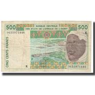 Billet, West African States, 500 Francs, KM:710Kc, TB - Estados De Africa Occidental