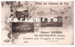 25  Les  Hopitaux Neufs  Hôtel Du Chemin De Fer  Henri Robbe - Multivues - France