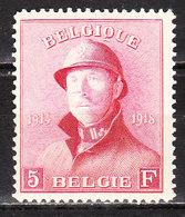 177Cu**  Roi Albert Casqué - Trait Sur Le Nez - MNH** - COB 440 - LOOK!!!! - 1919-1920 Trench Helmet