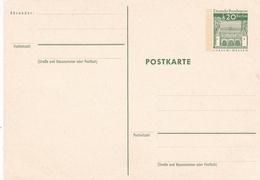 Berlin 20pfg Lorsch Hessen Postal Stationary Postcard Unused - [5] Berlin