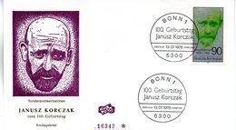 "BRD Schmuck-FDC ""100. Geburtstag Von Dr. Janusz Korczak"", Mi. 973 ESSt 13.7.1978 BONN 1 - FDC: Covers"