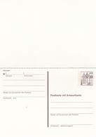 Berlin 40pfg Schloss Wolfsburg Postal Stationary Postcard With Reply Card - [5] Berlin