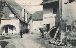 05 La Chapelle Valgaudemard Valgaudemar Place Du Pont Magasin épicerie Cpa Carte Animée - Frankrijk
