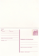 Berlin 60pfg Schloss Rheydt Postal Stationary Postcard With Reply Card - [5] Berlin