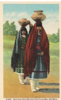 New Mexico- Santa Clara Girls Returning From Village Well  -Recto Verso- Paypal Free - Etats-Unis
