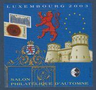 CNEP-2003-N°39** LUXEMBOURG  2003 .Salon Philathélique De LUXEMBOURG - CNEP