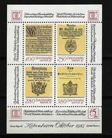 DÄNEMARK Block Mi-Nr. 4 Internationale Briefmarkenausstellung HAFNIA '87, Kopenhagen Postfrisch - Blocks & Kleinbögen
