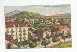 Cp, 74, ANNEMASSE , Vue Générale Et Le Mont Blanc , Illustrateur , Signée , Ed. C.E.L.A. - Annemasse