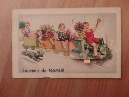 Namur - Souvenir De Namur - TRAIN EN BOIS ENFANTS - A Système - Colorisée - Circulée - Etat: Voir 3 Scans. - Namur