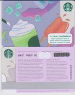 GIFT CARD - STARBUCKS - HUNGARY - HU-SB-014 - ICE CREAM - Tarjetas De Regalo