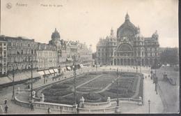 (398) Anvers - Place De La Gare - Zonneschermen Aan De Winkels - 1914 - Antwerpen