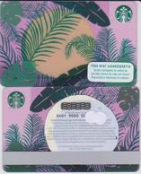 GIFT CARD - STARBUCKS - HUNGARY - HU-SB-015I - PLANT LEAVES SUNSET WITH I - Tarjetas De Regalo