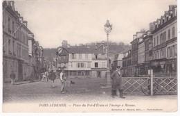 27 Eure -  PONT-AUDEMER -  Place Du Pot-d'Etain Et Passage à Niveau - 1906 - Pli - Pont Audemer