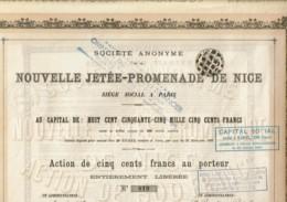 06-NOUVELLE JETEE-PROMENADE DE NICE. OMNIUM INDUST & FINANCIER FRANCE & OUTREMER - Azioni & Titoli