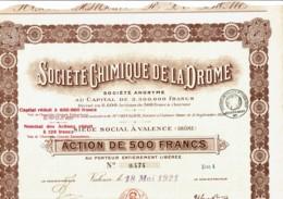 26-CHIMIQUE DE LA DRÔME. VALENCE. - Actions & Titres