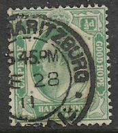 South Africa. CoGH, EVIIR, 1/2d, Used Interprovincial, (PETER)MARITZBURG NATAL -28 11 - Natal (1857-1909)