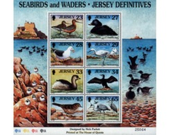 Ref. 74885 * MNH * - JERSEY. 1999. MARINE BIRDS AND WADERS . AVES MARINAS Y ZANCUDAS - Jersey