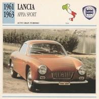 CARTE FICHE - LANCIA APPIA SPORT - AUTO GRAN TURISMO - ANNO 1961-1963 - CON CARATTERISTICHE - LEGGI - Automobili