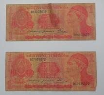 Honduras 1 LEMPIRA  - May 1980 / 2 Billets Très Usagés - Honduras