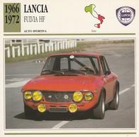 CARTE FICHE - LANCIA FULVIA HF - AUTO SPORTIVA - ANNO 1966-1972 - CON CARATTERISTICHE - LEGGI - Automobili