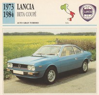 CARTE FICHE - LANCIA BETA COUPE' - AUTO GRAN TURISMO - ANNO 1973-1984 - CON CARATTERISTICHE - LEGGI - Automobili