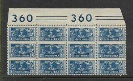 South Africa.1942, War Effort, Small Size,3d Top Marginal Block Of 3 Units,  MNH ** - Zuid-Afrika (...-1961)