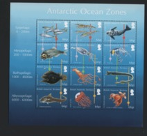 British Antarctic Territory BAT 2016 Sheet  Ocean Zone   / Antarctique Britannique Feuillet Vie Marine Faune **/mnh - British Antarctic Territory  (BAT)