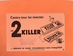 """BUVARD. PAPIER INSECTICIDE """" KILLER """"   Achat Immédiat - Blotters"""