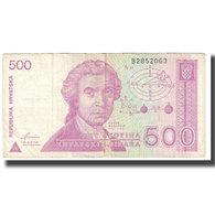 Billet, Croatie, 500 Dinara, 1991, 1991-10-08, KM:21a, TB - Croatie