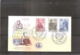 FDC Belgique - Année Du Réfugié -1960 - Illustration Rouge -(à Voir) - Refugees
