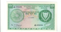 Cyprus Cipro 1979 Central Bank Of Cipro 500 Mils Q.FDS About Unc Lotto.2505 - Cyprus