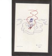 8 - Carte Dessin De Paul Emile Victor 1985 - Terres Australes Et Antarctiques Françaises (TAAF)