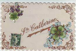 FANTAISIES . CARTE CELLULOÏD . SAINTE CATHERINE . AJOUTIS Et DECOUPIS . - Saint-Catherine's Day