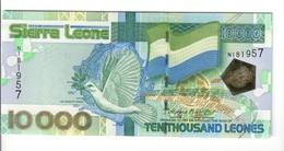 Sierra Leone 10000  Leones, 2004, Pick#29a UNC Fds Lotto 2506 - Sierra Leona