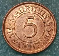 Mauritius 5 Cents, 1995 -4598 - Mauricio