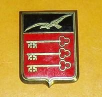Escadrille De Liaisons Aériennes 56, émail, OFSI Francs Bourgeois,écu Aux Armes D'Avignon, écu Coupé, Noir à Un Oiseau E - Airforce