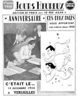 Carton Envoyé Par Le Journaliste Roland Faure Pour Les Vœux De L'année 1958 - Mitteilung