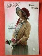 VIVE MARIE - MARIA ! - BONNE FETE - FEMME AU CHAPEAU - DAME MET HOED - Autres