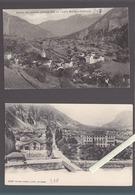 Suisse / Lot De 2 CP / Valais / Vernayaz + Salvan Ligne Martigny- Chamonix - VS Valais