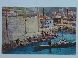 Trieste 348 Barcola Canottaggio Vogatore 1910 - Autres Villes