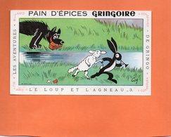 """BUVARD. PITHIVIERS (LOIRET)  PAIN D'EPICES """" GRINGOIRE """"  GRINGO.LOUP ET AGNEAU Achat Immédiat - Gingerbread"""