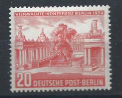 Allemagne Berlin N°104* (MH) 1954 - Conférence Des Quatre à Berlin - Neufs