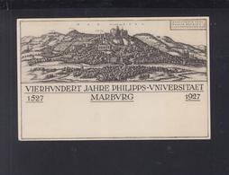 Dt. Reich GSK 1927 400 Jahre Uni Marburg Gelaufen - Germany