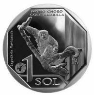 PERU 2019 , Monkey, 1 Sol , Uncirculated - Peru