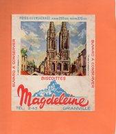 """BUVARD. GRANVILLE Et BAYEUX. BISCOTTE """" MAGDELEINE """"  Achat Immédiat - Biscottes"""